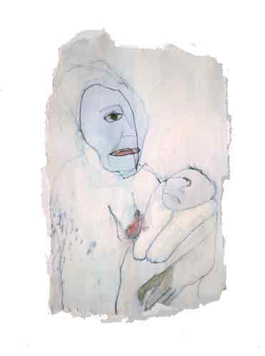 Mary & child 2004, 15 x 20 cm